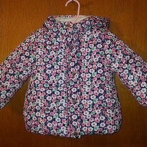 Carters girls 12 month flower coat